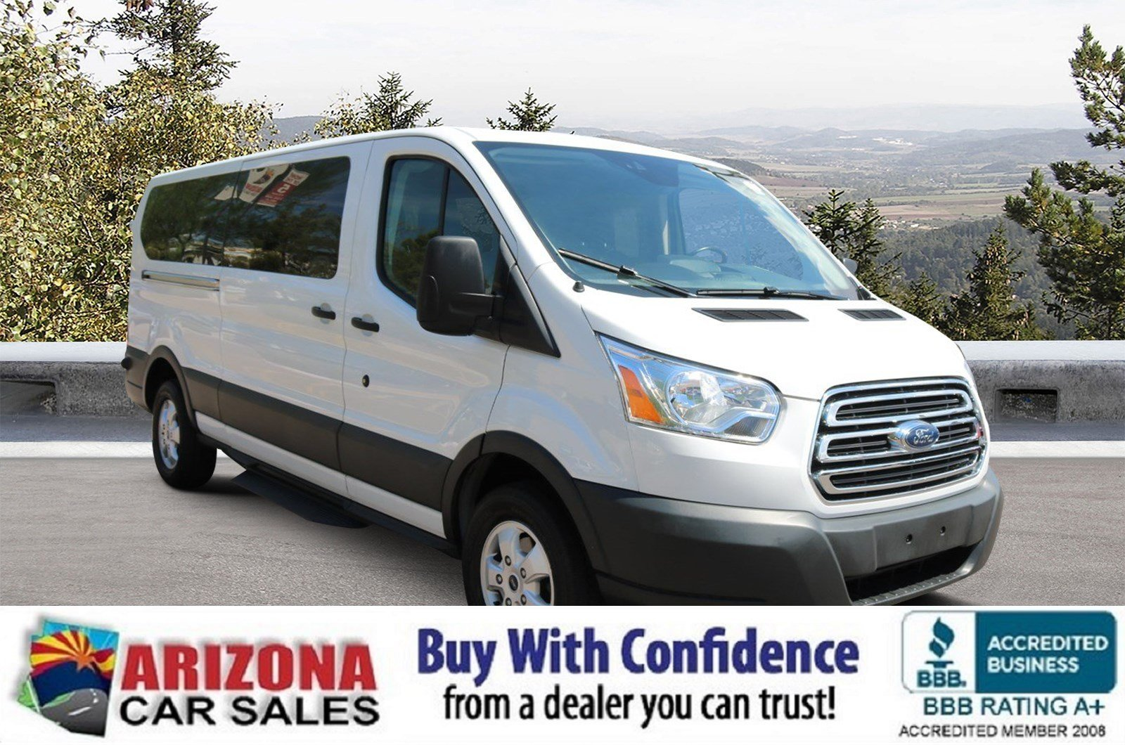 Certified Pre Owned 2017 Ford Transit Wagon Xlt Full Size Passenger